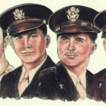 The Four Chaplains were four World War II chaplains who died while rescuing civilian and military personnel as the troop ship SS Dorchester sank on February 3, 1943. Pictured from left, Alexander D. Goode, George L. Fox, Clark V. Poling, and John P. Washington. Courtesy image