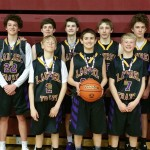 This past weekend, the 8th grade Laurel Traxx boys basketball team took first place in the Helena Swish 8th Grade Gold Division. The tournament was held March 10-11 at Helena High School. The team won all of its games against the Helena Explosion, Billings Bulldawgs and the Great Falls Titans and won the championship game against the Montana Helena Elite 66-34. Congrats to the 8th grade boys! The Laurel Traxx 8th Grade basketball team. In the back row from the right are Coach Steve Willis, Kaiden Alexander,