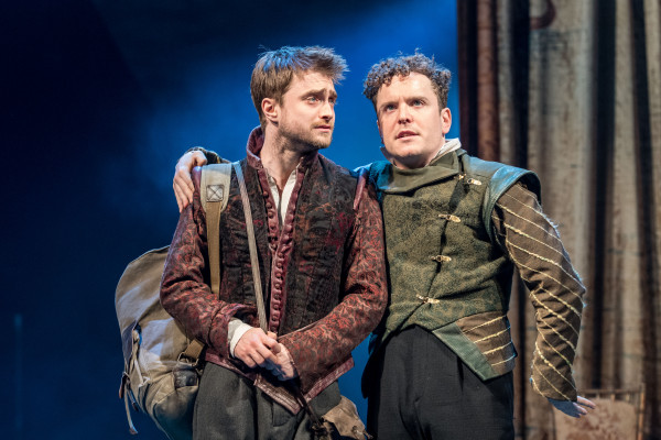 Photo by Manual Harlan. Daniel Radcliffe and Joshua McGuire star in the production of Tom Stoppard's Rosencrantz & Guildenstern Are Dead.