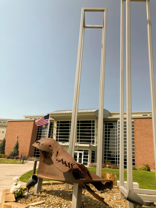 The 9/11 Memorial at the MSU Billings City College campus was constructed using a chunk of steel from the destroyed World Trade Center.