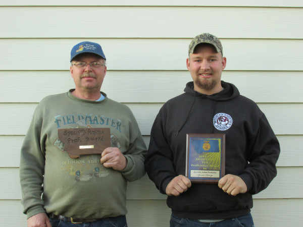Andy Drange and his son Spencer Drange received the same award 31 years apart.