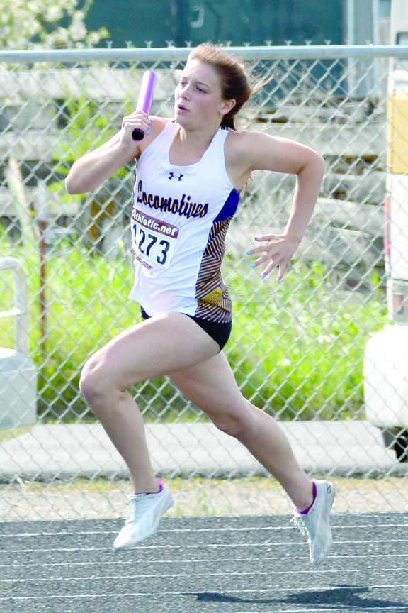 Aspen Cotter and her 4x400 relay team took first place. The team included Cotter, Samantha Spitzer, Paige O'Toole and Jessica Elmer.