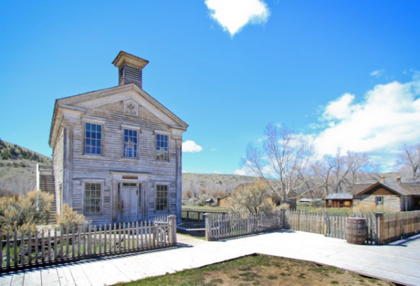 Bannack School House and Masonic Lodge is one of the ghost town's more popular buildings.
