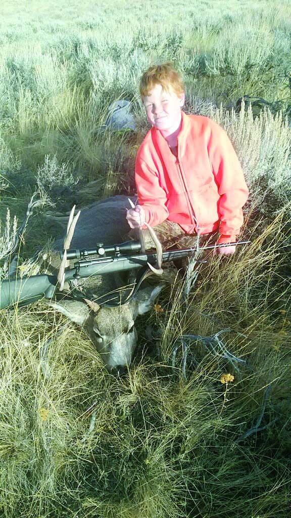 Courtesy photo. Broden Lucas, 11, of Park City, shot this nice buck on his first deer hunt in the Crazy Mountains, north of Wilsall, on Oct. 19th.