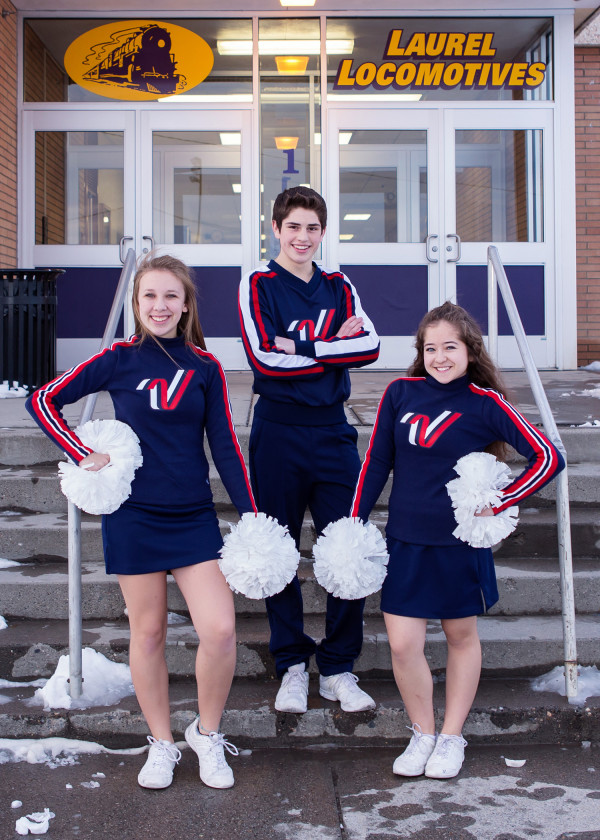 Photo by Jet Snelling Photography From the left are Abigail Peterson, Marcus Simpson and Avery Carlson who represented Laurel in the London New Year's Day parade.