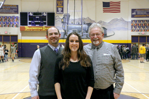 Shown from the left are Brett McKee, Rachel Mayes and Dennis Lordemann
