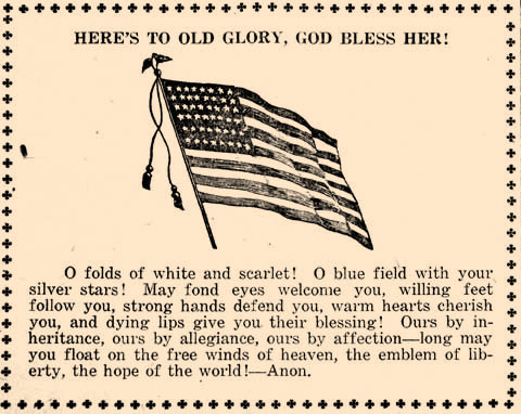 Patriotism was important in 1917 as the U.S. was entering WWI.
