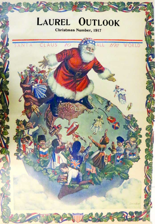A full-color front page of this delightful Santa poster was the Outlook's gift to readers in 1917.
