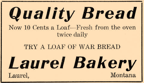 Unfortunately, Laurel doesn't have a bakery serving fresh bread daily any longer. The bakery suggested trying a loaf of war bread, which may have had less butter or sugar or other rationed ingredients.