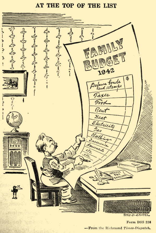 The priority was clear in most households. Just two months after Pearl Harbor, supporting the war effort came before anything else.