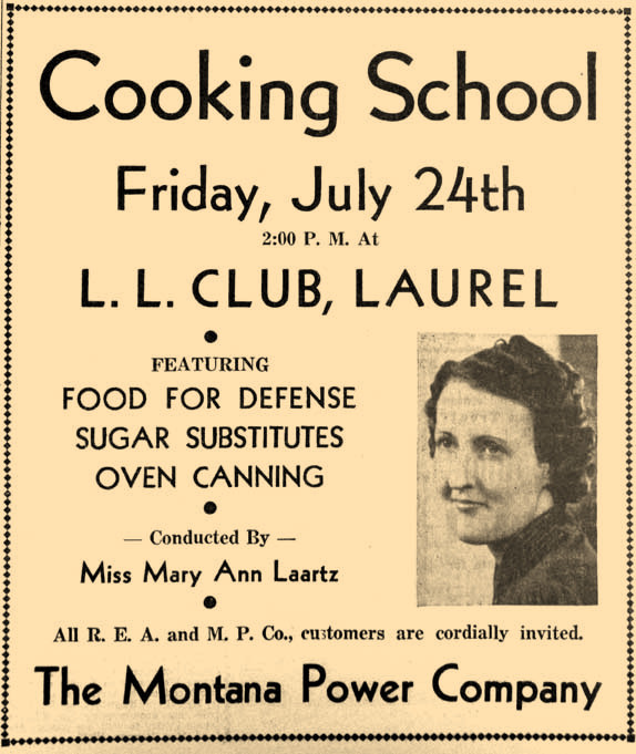 In 1942, learning tricks to cook under wartime conditions was important.