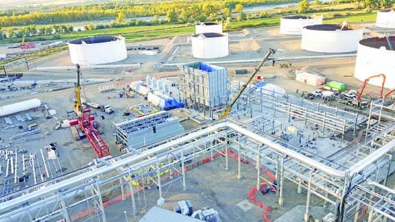 Shown about half-way through construction, the hydrogen plant is now up and running.                  Courtesy photo. news