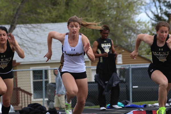 Taylor Ludwig exploded out of the blocks in the 100-meter dash on Tuesday.