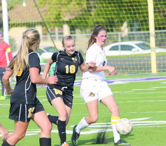 Keeper Paige O'Toole had a chance recently to get out of the goal box and to keep her field player skills sharp.