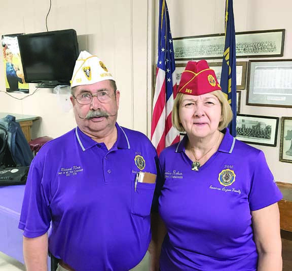Vice Commander of the American Legion Department of Montana Richard Klose, of Laurel, met with National Commander Denise Rohan Thursday, Oct. 26. Commander Rohan was visiting Montana and went to several posts.