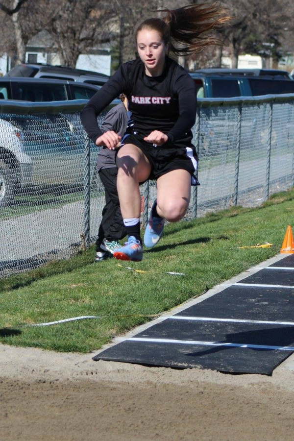 Photo courtesy of Kim Flemmer.  Lady Panther MacKinzie Verke had an amazing weekend at the Snowflake track and field meet in Columbus, where she placed first in the girls high jump and second in the triple jump.