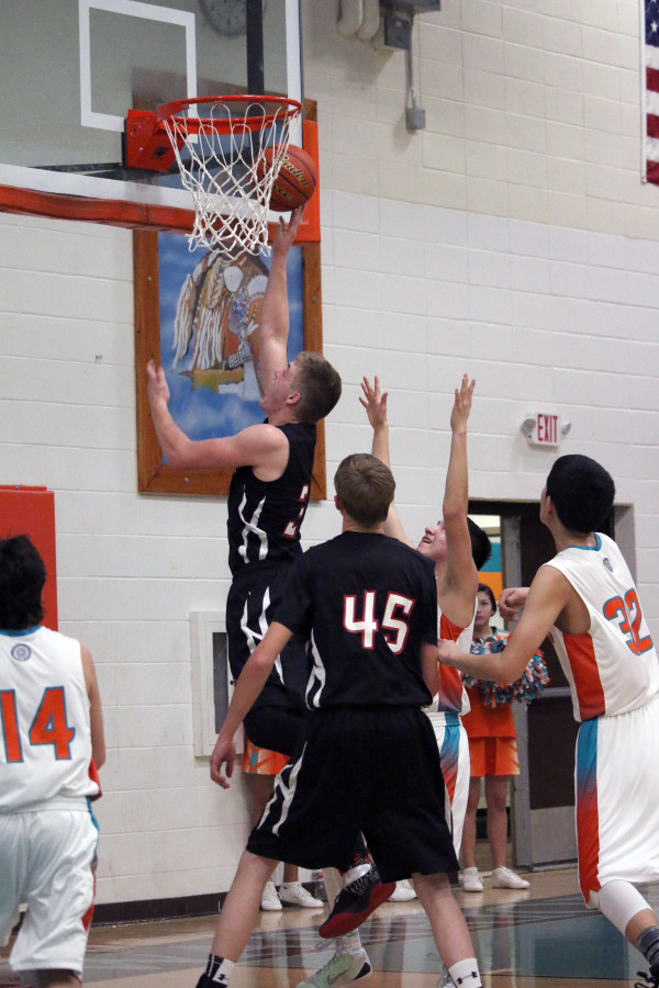 Photo courtesy of Jill Grim.  Park City's Talon Johnstone put in 19 points against Plenty Coups in a losing effort.