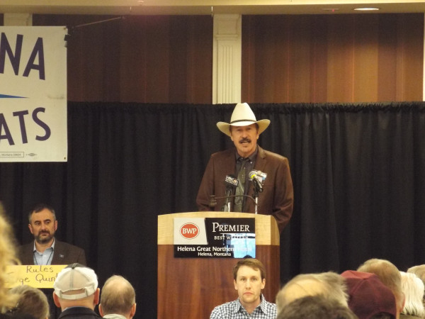 Photos courtesy of Brad Molnar.  Rob Quist was selected as the Democrats' candidate in the special election to be held May 25, during a weekend mini-convention.