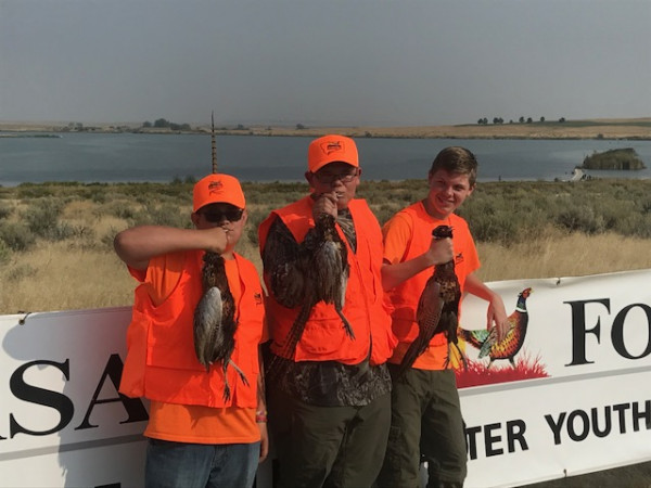 Three Laurel boys had a successful day at the annual Pheasants Forever Youth Hunt. From the left are Eastin Kelsey, 15; Colton Folts, 14; and Logan Vincent, 14.