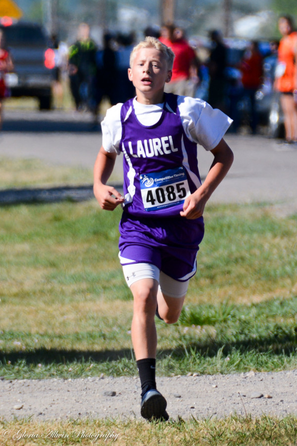 Photo courtesy Gloria Allwin. Laurel Middle School 8th grader, Wyatt Ostler, is shown at the Eastern A Classic in Hardin on Saturday.
