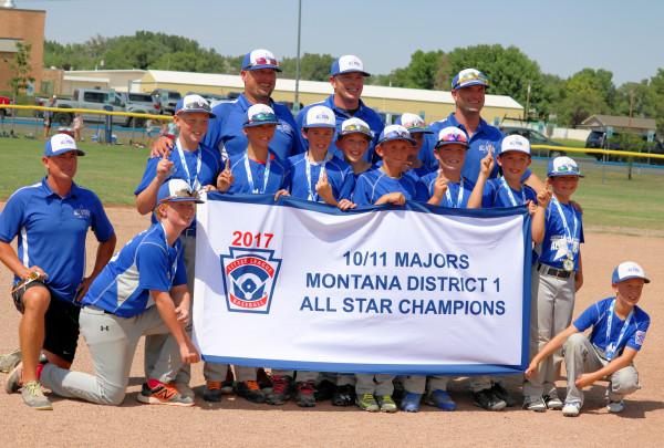 Photo courtesy Jason Wise. The Laurel/Granite Peak/Beartooth Little League all-star team is seen after winning the District 1 Championship. In the front from the left are Coach Jason Wise and Hunter Doyle, Silas Hahn. In the middle row are Kellen Wrzesinski, Zach Stewart, Mason Meier, Zach Downing, Landon Olson, Owen Reynolds, Reece Dolechek, Jase Fox and Chad Wise. In the back are coaches Stew Doyle, Wade Reynolds and Keever Dolchek.