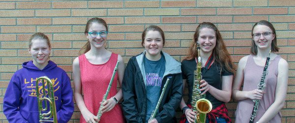 Band - Soloist: Brynnan Miller, Kyra Bruner, Haylee Adams, Kendra King and Emily Virgil. Not pictured, Rylee Johnson
