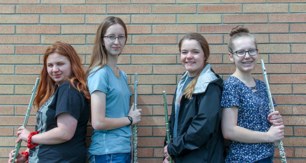 Band - SSASE Flute Ensemble: Danessa Stevens, Malie Smith, Haylee Adams and Jenna Scott. Not pictured, Lizi Earles