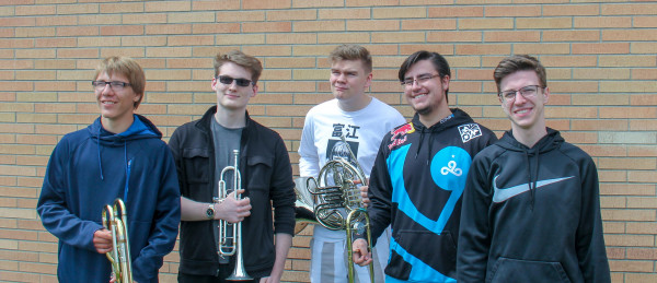 Band - Fire Hazard Brass Quintet: Jayden Lyon, Connor McCleary, Sebastian Anderson, Payton Chavez and Brandon Steppe.