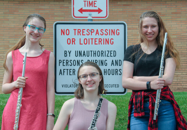Band - The Spirit Wind Trio: Kyra Bruner, Emily Virgil and Kendra King.