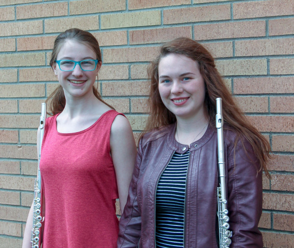 Band - LHS Flute Duet: Kyra Bruner and Rylee Johnson.