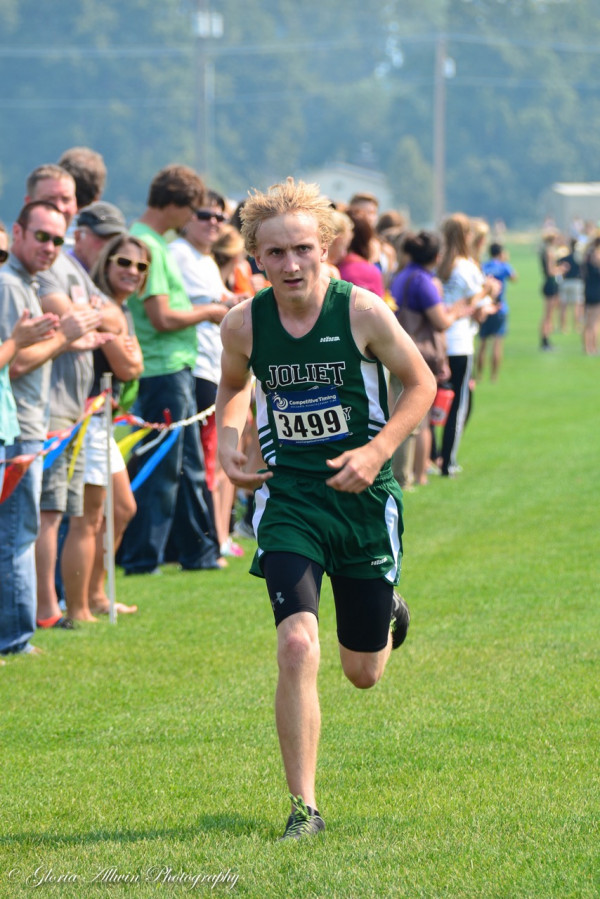 Photo courtesy Gloria Allwin. Joliet runner Jakob May finishes at the Billings Invitational at Amend Park in Billings on Friday. The J-Hawk senior won the JV race with a time of 18:43.53. On Tuesday, at the Huntley Project Invitational, May had a solid 4th place finish with a time of 18:25.43.