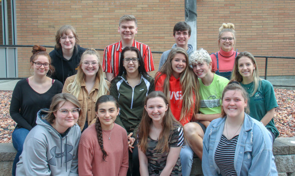 Vocal Solos: top row from left to right: Aleah Goeke, Sebastian Anderson, Andrew Sutton, Taylor Noble. Middle row left to right: Kendra Weatherford Corinna Bickel, Makiah Gotschall, Keeli Harris, Harley Heeftle, Zoey Robertus. Bottom row left to right: Jocelyn Perkins, Candace Burrows, Elizabeta Earles and Abigail Hillis. Not Pictured: Aaron Fairlee, Megan Maida.
