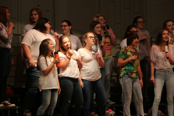 Photo by David Keyes.  The outstanding Laurel High School choir held an energetic and wonderful spring concert Tuesday night. The many groups sang hits from the 70s and 80s and featured everything from Johnny Cash to Michael Jackson to Queen's Bohemian Rhapsody. The choir graduates 26 seniors.