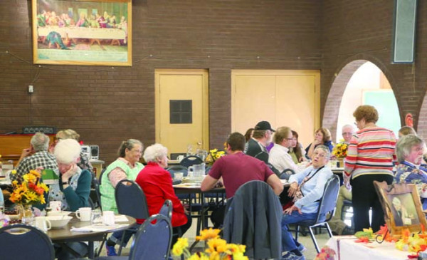 Thanks to the hard work of a cadre of volunteers, Thanksgiving dinner was served to hundreds of Laurel residents last Thursday at First Congregational Church. The community dinner relies on donated turkeys and folks willing to cook, serve and clean up.