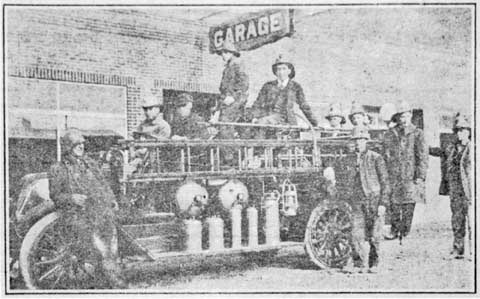 The volunteer firefighters of 1920 were understandably proud of the new fire truck purchased by the city. It was equipped with bells, whistles and everything a modern fire truck needed.
