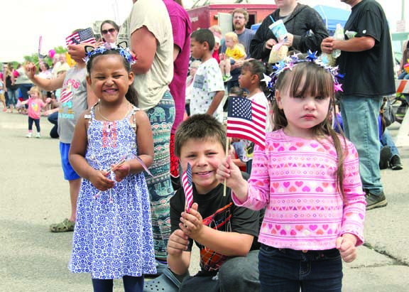 This crew of youngsters was having fun during the 4th of July parade in Laurel.