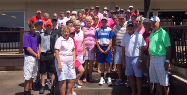 Courtesy photo.  The Laurel Ladies Golf Association at the Laurel Golf Club June 6. The ladies were at the club to play in the Rally for a Cure tournament.