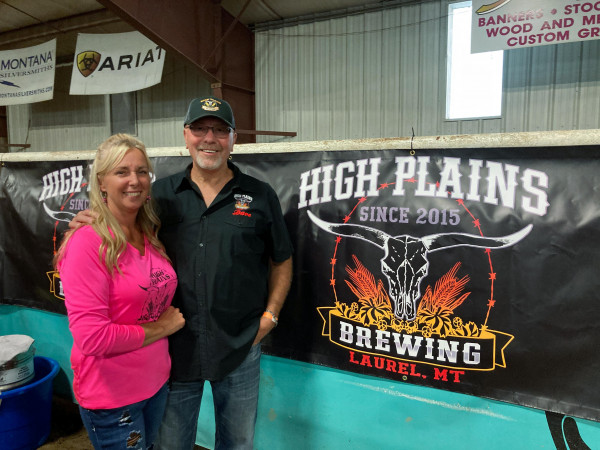 High Plains Brewing Company owner Dave Bequette and his assistant Brenda Frank poured honey porter and haywire wheat Saturday night. High Plains Brewing, of Laurel, was voted Best Beer of the festival by the attendees.