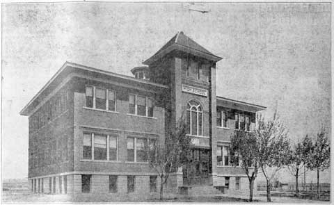 The high school became known as the North School. The bell from the school sits in the Chamber of Commerce garden.