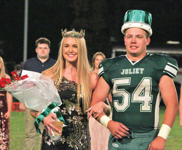 Joliet's 2020 Homecoming King and Queen are Kelly Lind and Skyler Wright. Photo courtesy Michelle Carpenter