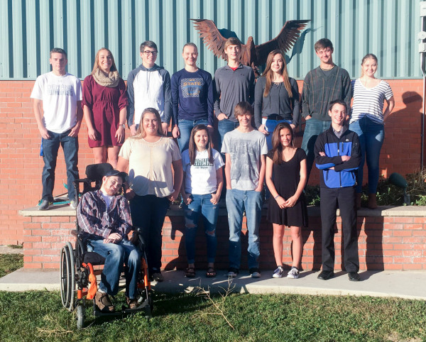 Joliet's Homecoming royalty have been announced and the week's festivities conclude tomorrow with the Powderpuff football game, pep assembly, parade and varsity football game against Lone Peak at 7 p.m. The Homecoming parade begins at 2 p.m. In the back row from the left are Parker Smith, Tayler Wright, Dawson Bancroft, McKendra O'Dore, Taylor Rowlison, Kiera Steffan, Danny Hildebrand and Skylar Foos. In the front are Trey Ward, Breanna King, Alyssa Taborsky, Brigham Smith, Saybrin Dimond and Batista Eaton