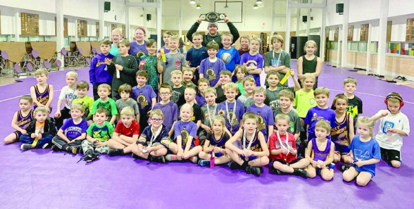 Champs! Photo courtesy Danielle Burrows                        The Laurel Matburners Wrestling Club were the Medium Team Champions at the B Town Showdown hosted by the Billings Wrestling Club in Lockwood on January 5th. The Laurel Matburners club members range in age from 4–13 years of age.