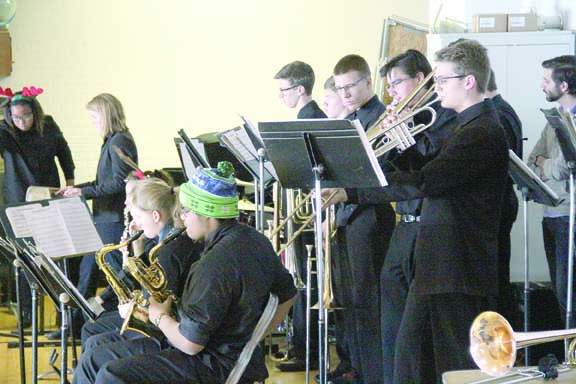 The Laurel High School Jazz Band accompanied the Laurelaires as they toured the elementary schools last week.