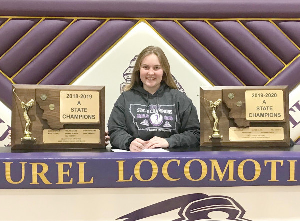 Photo courtesy Jim O'Neil                        LHS Senior and All–State golfer Madi Cooney recently committed to play golf at Dickinson State University next year.