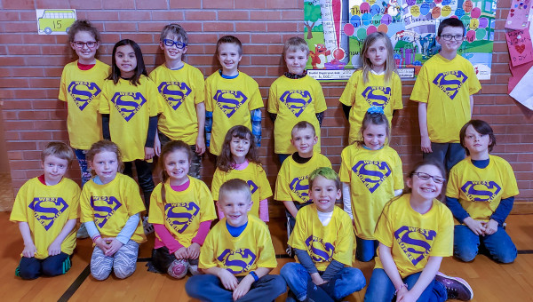 The March Buzz winners from West school are shown after a recent assembly. In the front row are Luke Gage, Teyson Sandness and Haven Por. In the middle row are Ben Kraft, Layla Robison, Paislee Wells, Eva Ronan, Hoyt Lowell, Madison Stewart and Zane Harp. In the back row are Talia O'Neil, Jaydyn Farnsworth, Kekoa Albers, Maximas Sandmeier, Kannon Southworth, Kailey Wersland and Dylan Litten.