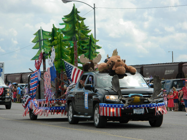 The Moose Lodge's float was awarded best Theme in the parade. Outlook photo by Kathleen Gilluly
