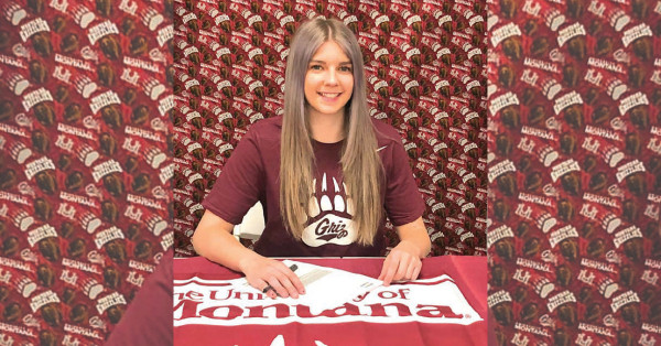 Senior javelin thrower Keeli Harris signed a letter of intent to compete with the University of Montana Track and Field program.