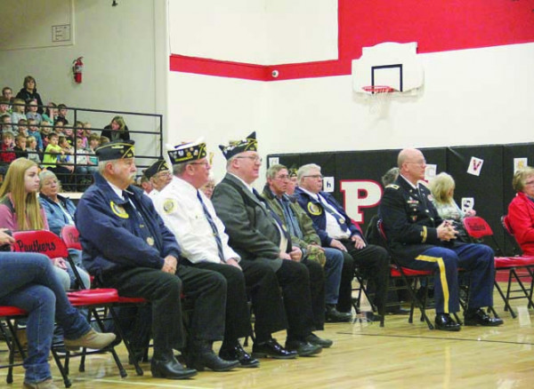 Veterans were given seats front and center at the Park City School's tribute for Veterans Day, Friday, Nov. 10. Members of Park City's American Legion and a special speaker were honored with a reception in the lunchroom after the ceremony.