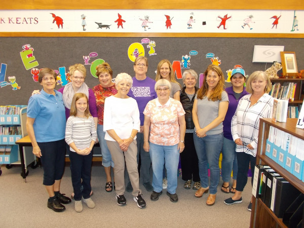 Photo Courtesy Erika Frisby                        In the back row from the left are Arline Foster, Robyn Bauer, Barb Keim, Mary Cruzan, Karen Hanchar, Wanda Morgan, Erika Frisby, Ryleigh Delich and Marie McHatton. In the front are Lauren Clausen, Vicky Hammond and Joyce Jensen.