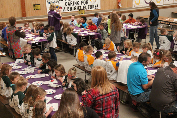 """All the Laurel kindergarten students at South School created rock art for the """"Only One You"""" project last Tuesday."""